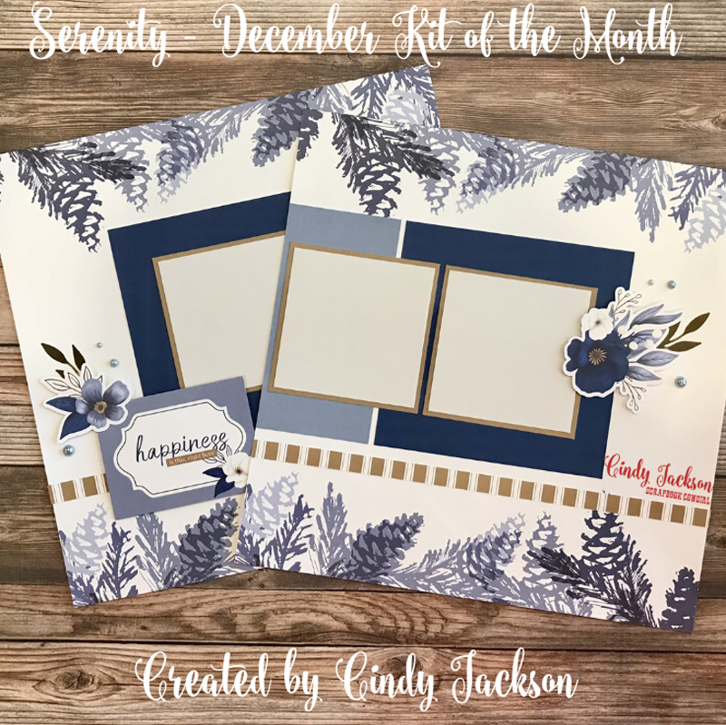 December Kit of the Month: Serenity Paper Collection