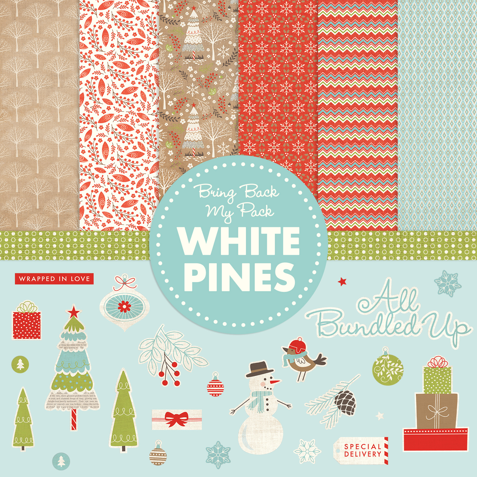 Close to My Heart July Promotion – Bring Back My Pack – White Pines